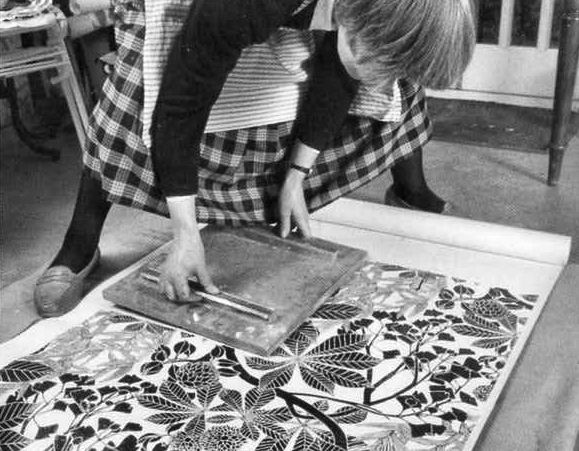 Marthe Armitage at work