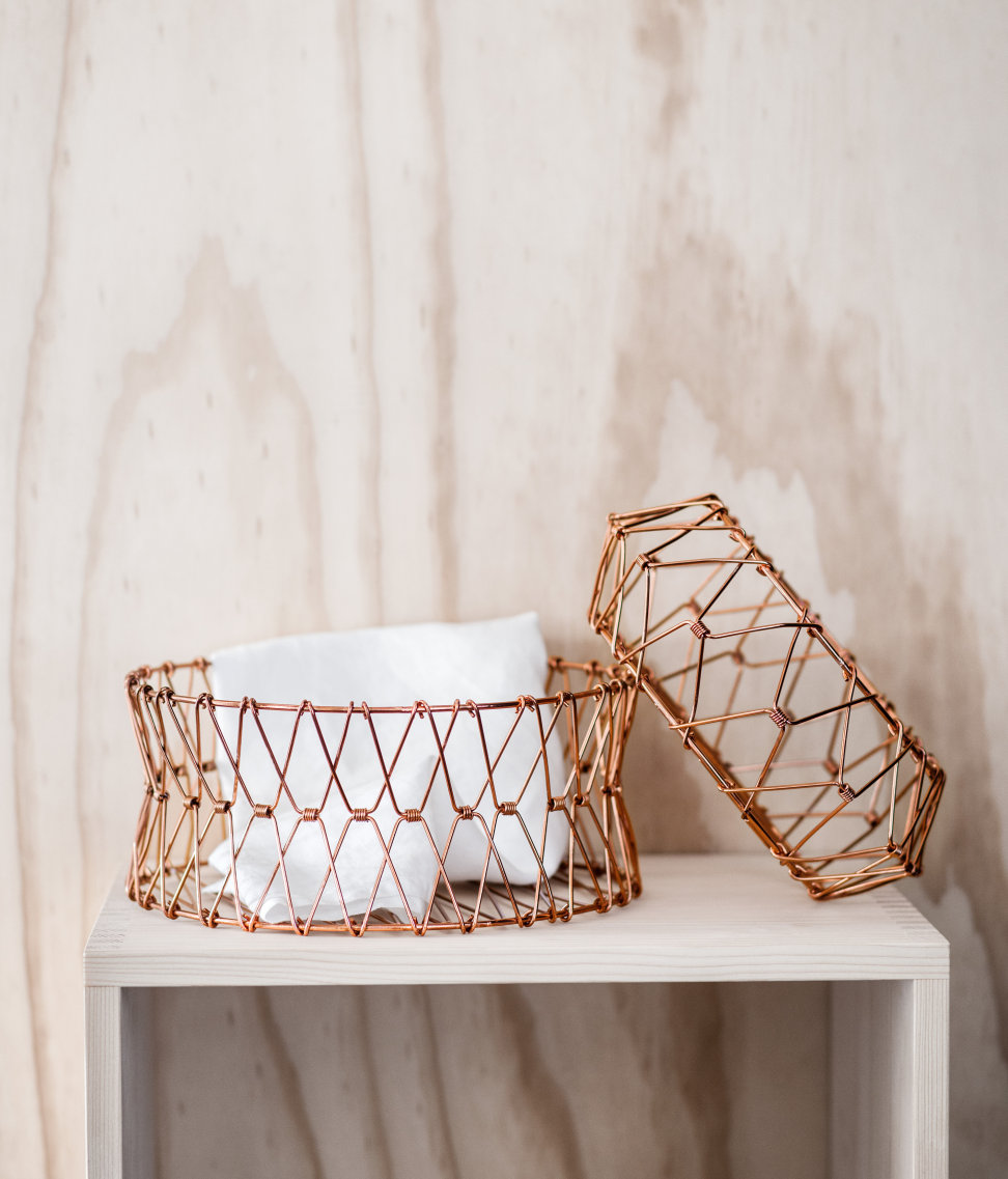 Metal wire basket $12.95-$17.95