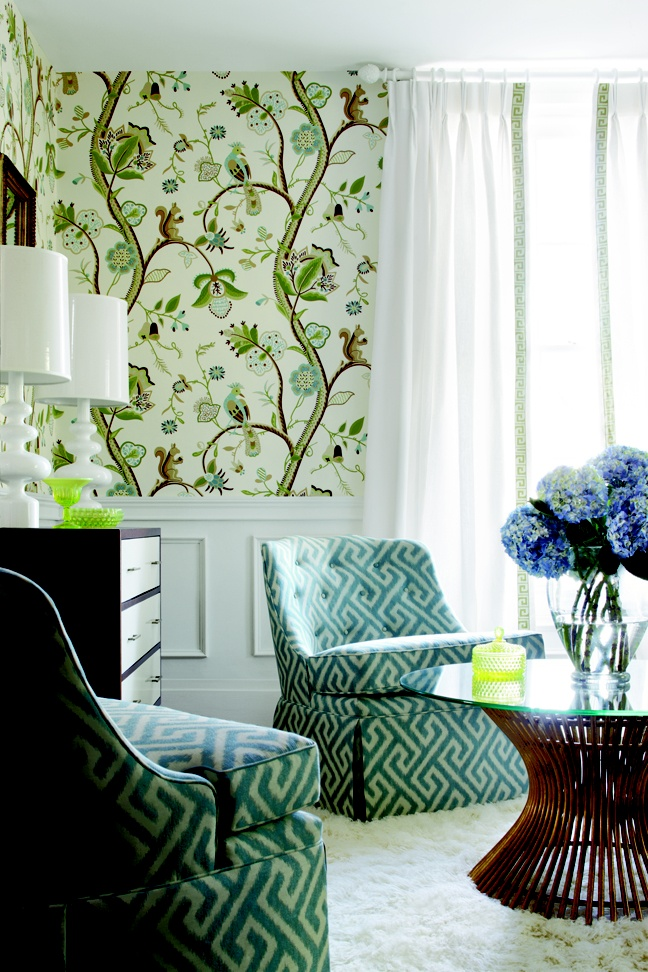 Kirkwood wallpaper via Thibaut