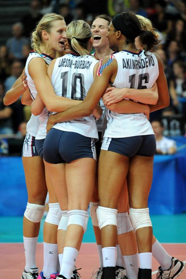 At the world championships with Team USA in 2014. Watch the  fivb recap here