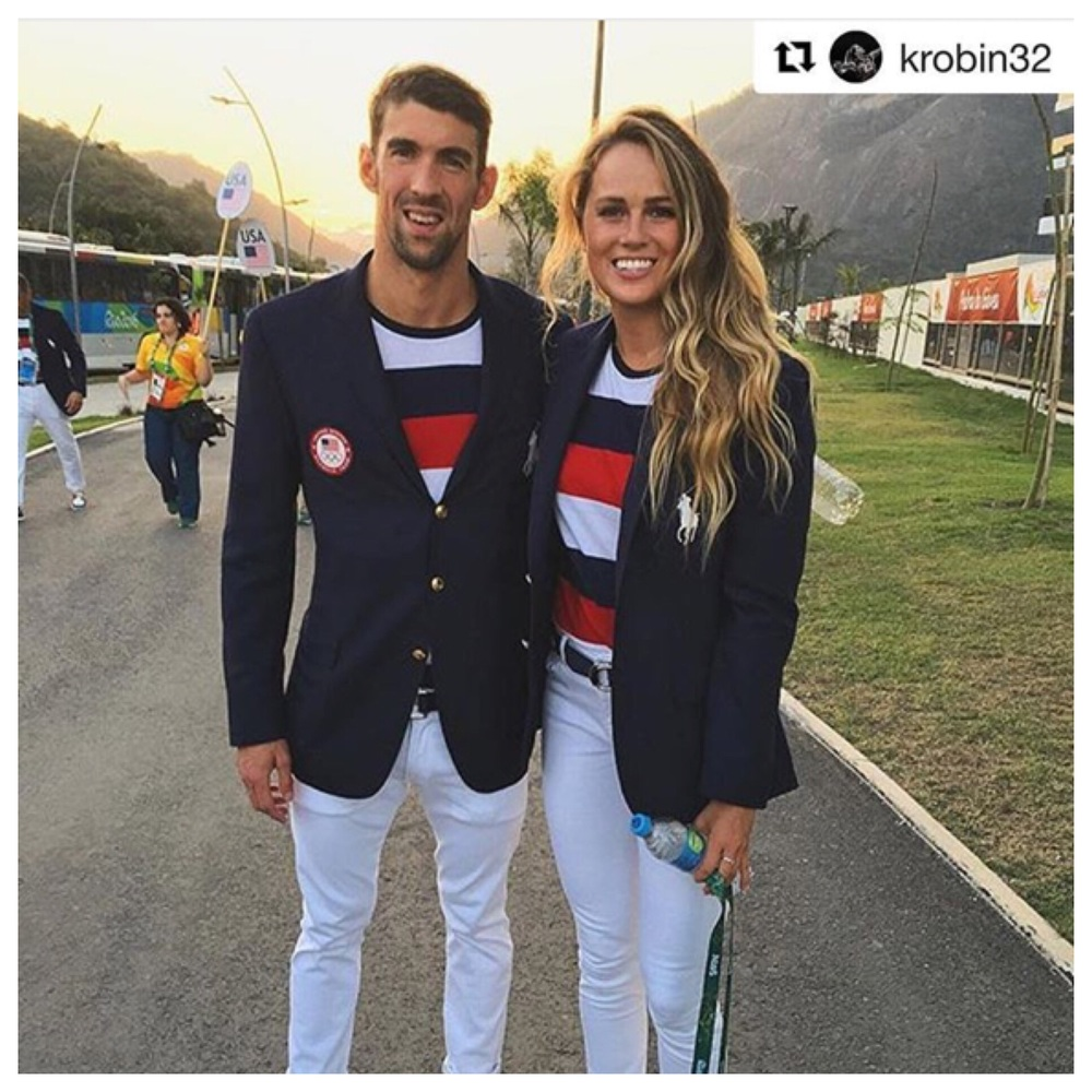 Michael Phelps and Kelsey Robinson