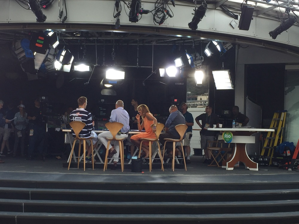 Set of the Today Show from RIO