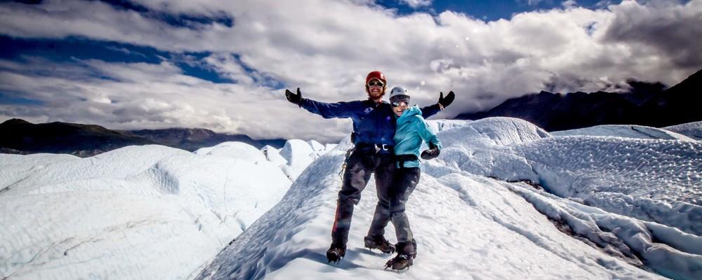 First climb on a glacier for Stephanie!