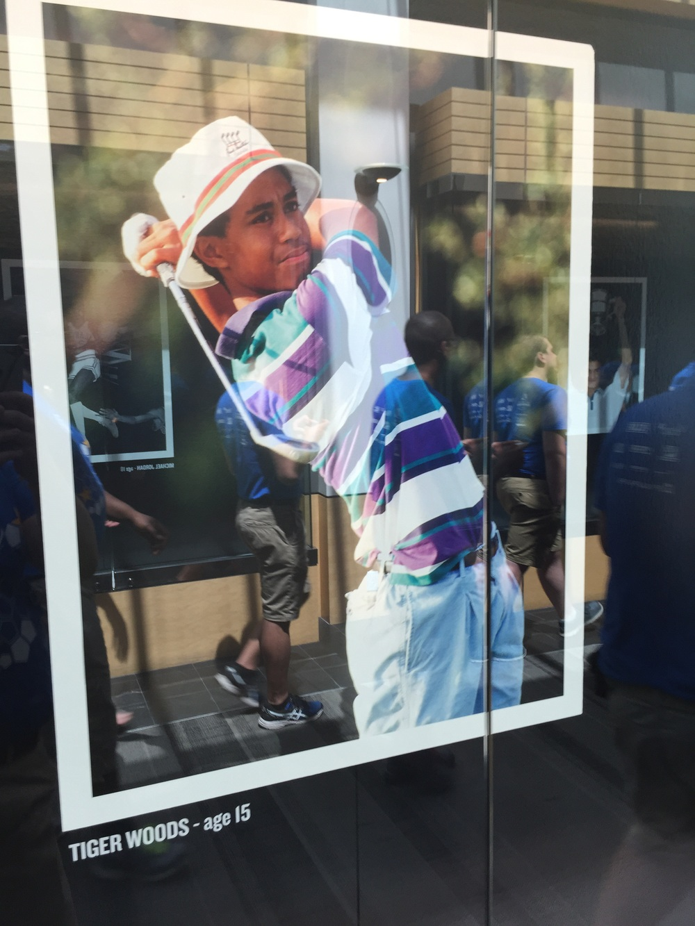 There was an exhibit of Nike Athletes when they were younger.