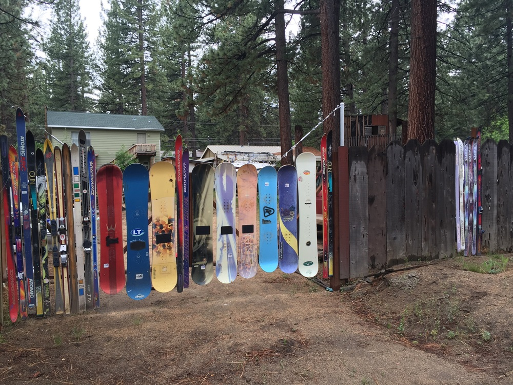 A cool fence in Lake Tahoe