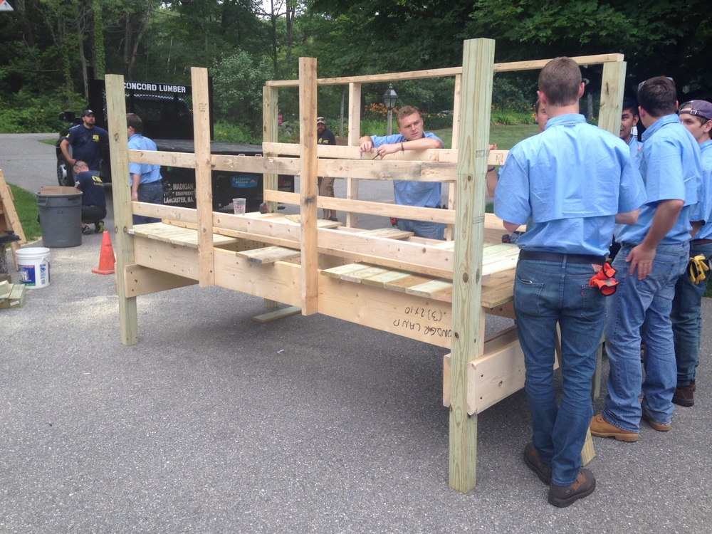 The other groups' section of the raised accessible walkway we will be rebuilding and maintaining at the Wonderland Camp