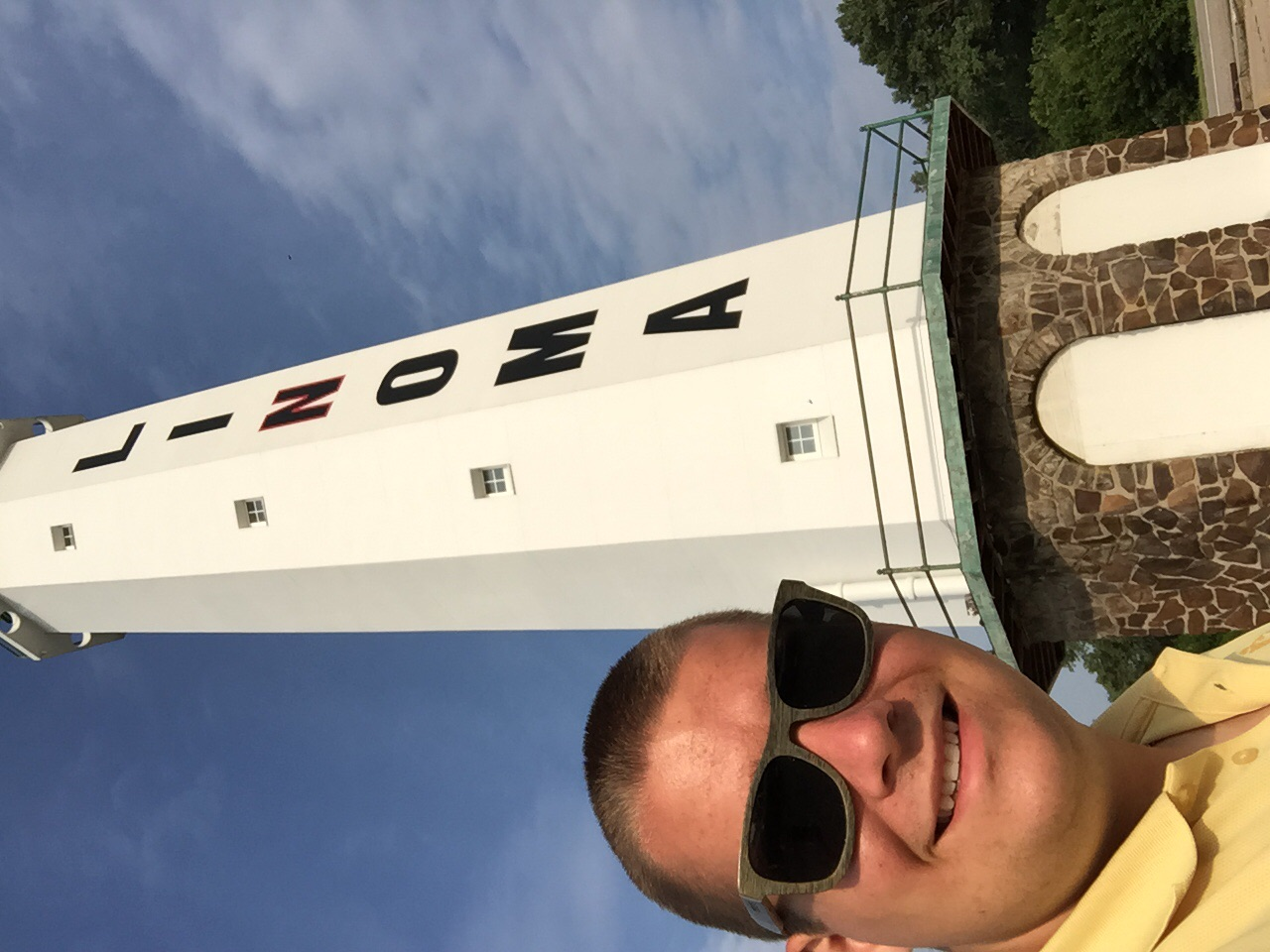 I had a crew stop a a lighthouse in the middle of Nebraska of all places!