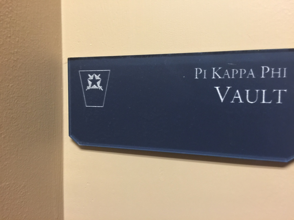 The vault where every member of Pi Kappa Phi's membership seal is stored