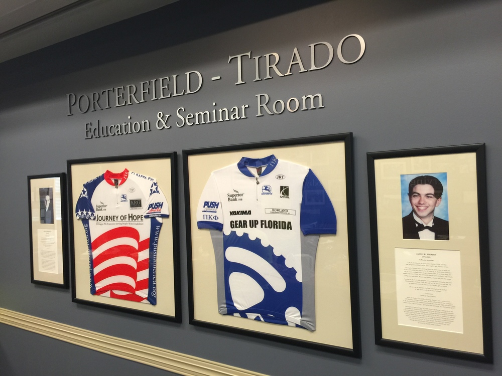 This is the seminar room the Bruce Rodgers dedicated to Todd Porterfield who died on the Journey of Hope in 2000 and Jason Tirado who suddenly died shortly before beginning his second Journey of Hope.