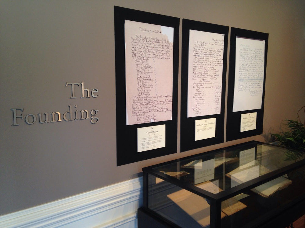 The original minutes of the first meetings of the group that would become Pi Kappa Phi