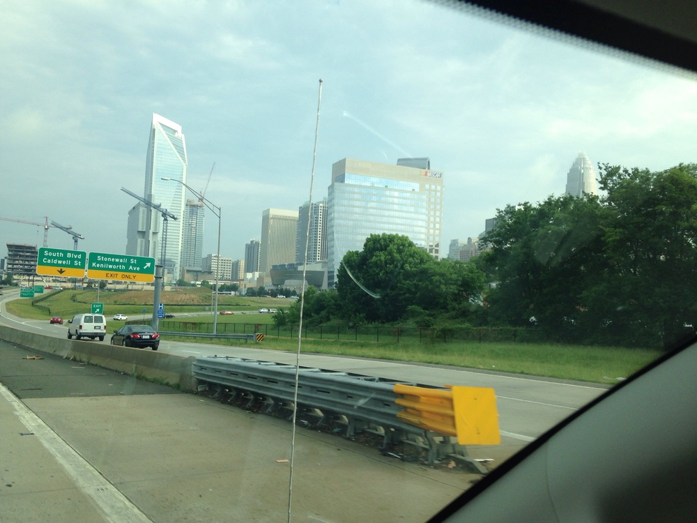I caught a picture of the skyline on the way to HQ