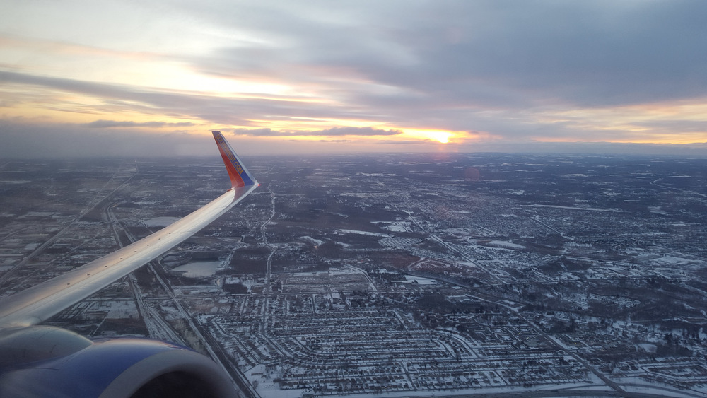 Flying out of Buffalo at sunrise. See you in a week, snow!