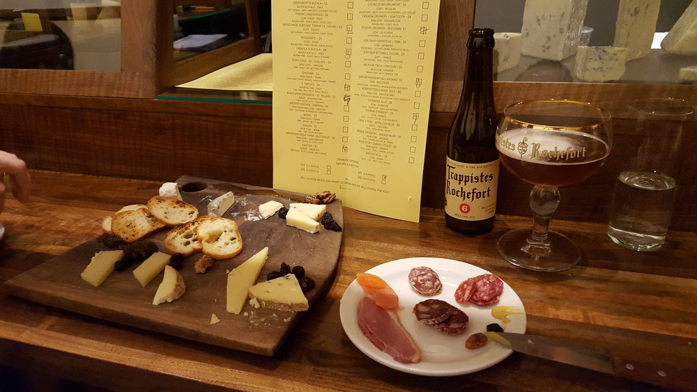Fabulously great sushi-style cheese and charcuterie experience at  Chizu .