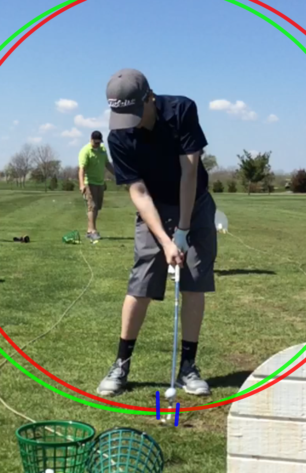 The before and after of low point control.  Notice the low point has shifted in front of the ball for this shot off the ground.