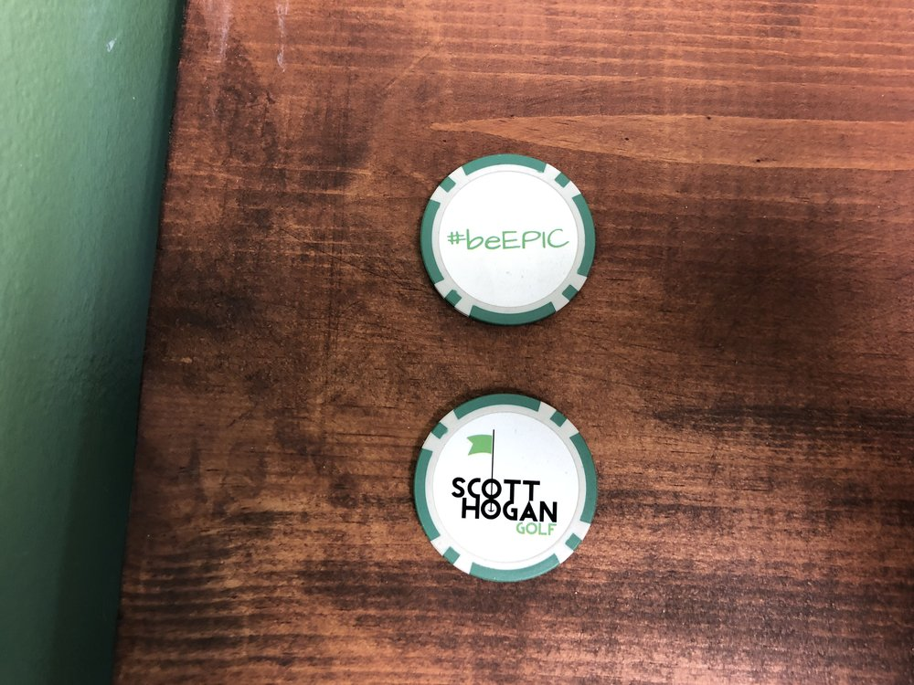 #beEPIC Poker Chip Ball Marker - 10 Points