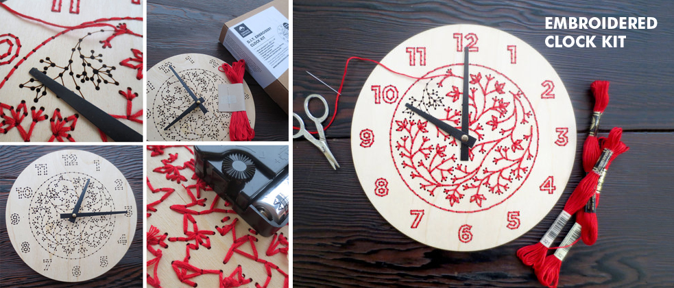 Embroidery Clock