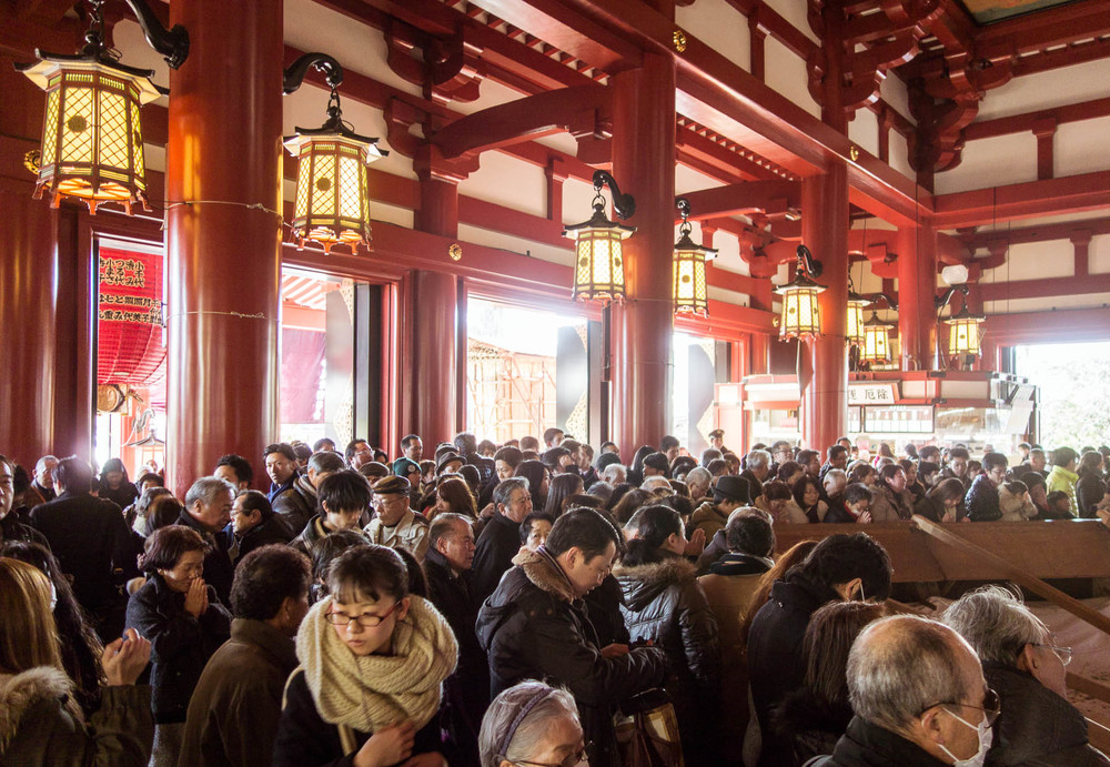 asakusa temple, new year's