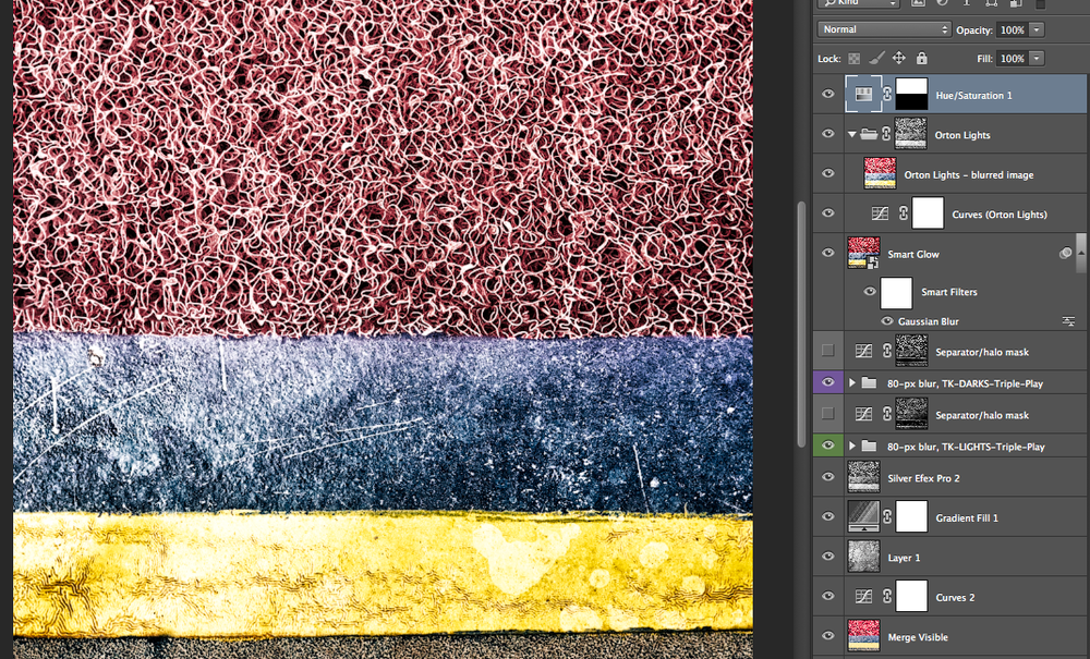 Photoshop layers of Number 2, 2014