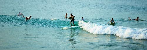 Surfs always up at Noosa