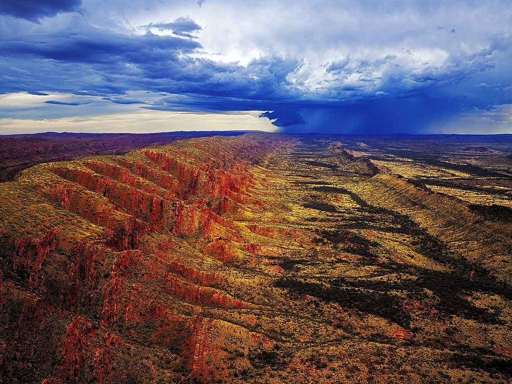 Outback storm over the West MacDonnell Ranges, Northern Territory, Australia