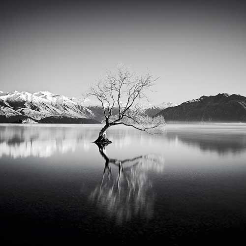 Lake Wanaka in the Otago region New Zealand