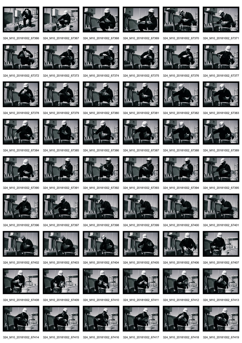 Person at Work I - Contact Sheet 1 of 2