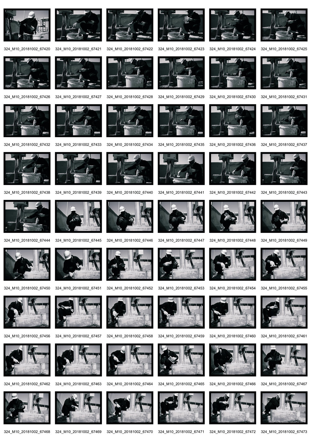 Person at Work I - Contact Sheet 2 of 2