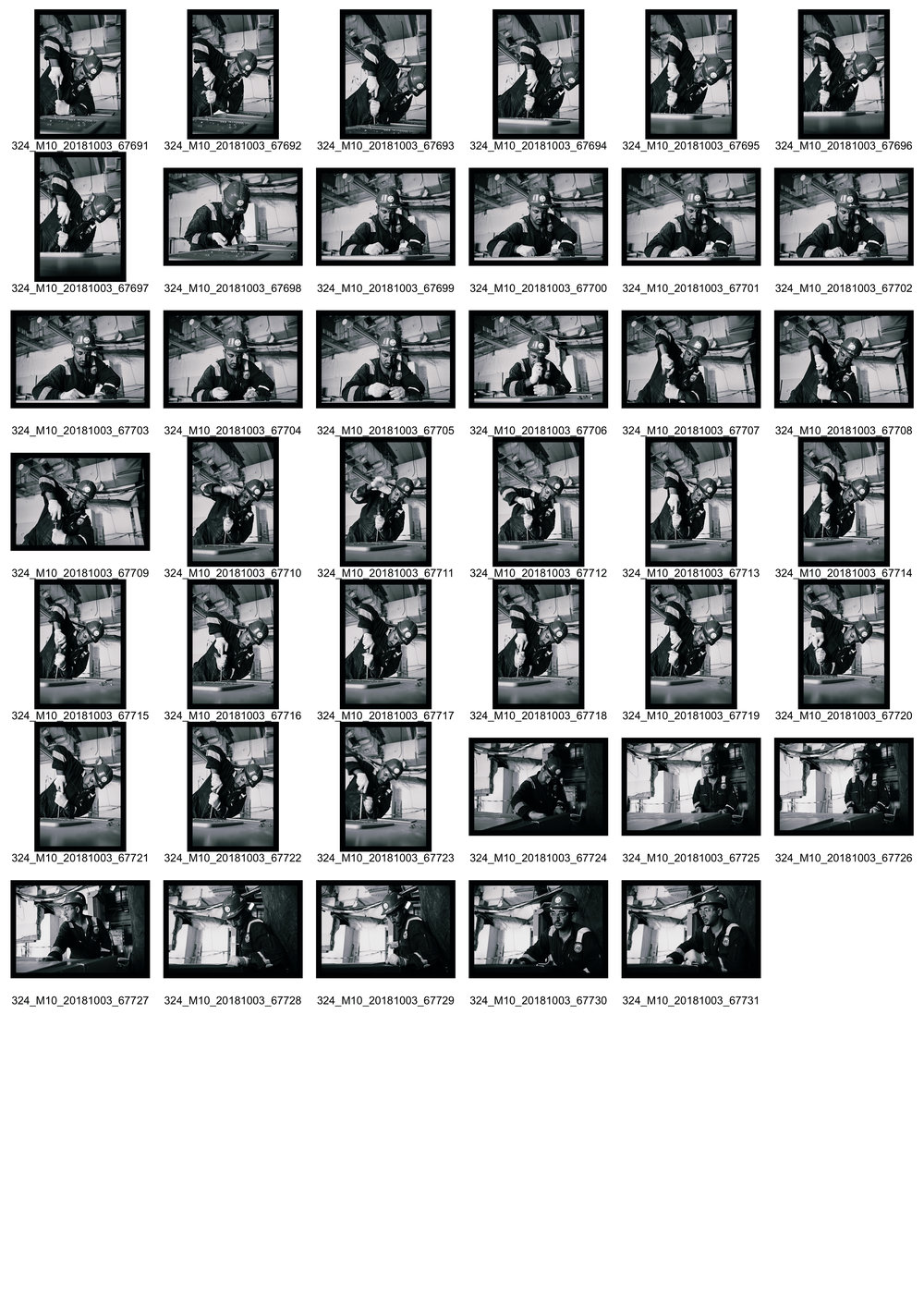 Person at Work II - Contact Sheet 4 of 4