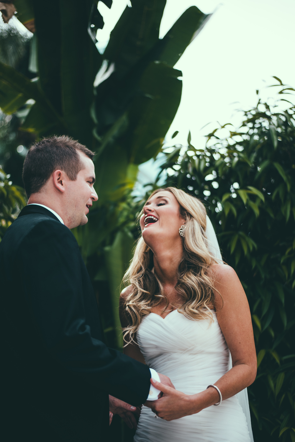 The Palms Hotel & Spa Wedding Miami Florida Photographer Bride Laughing at Grooms joke