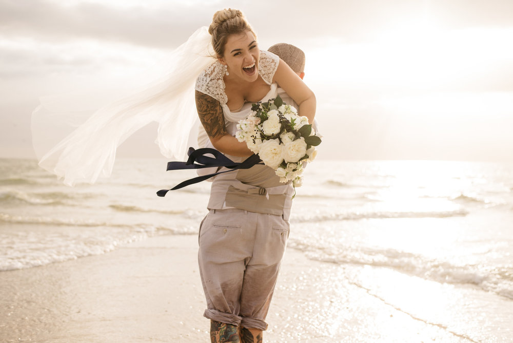 Chris and Amanda Naples Florida Beach Wedding