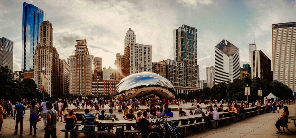 Cloud Gate aka The Beach in Millennium Park, Chicago Illinois