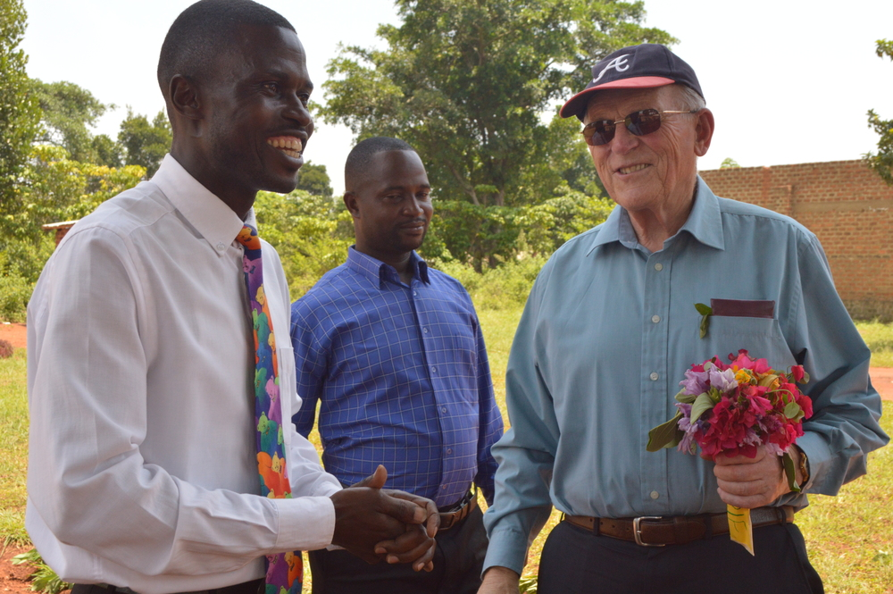 Barrie with Mr Katende, Primary Head