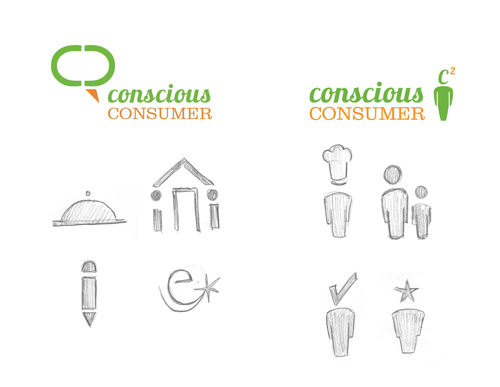 Conscious Consumer icon sketches.