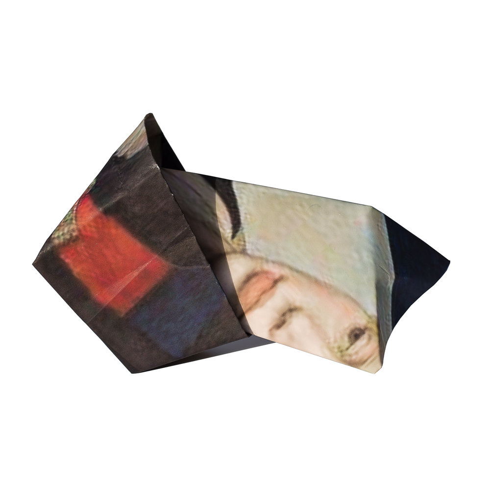 portrait of a woman with folds