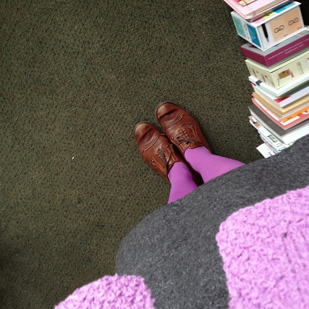 wearing today … the tights match the summer tweed jacket … yeah!