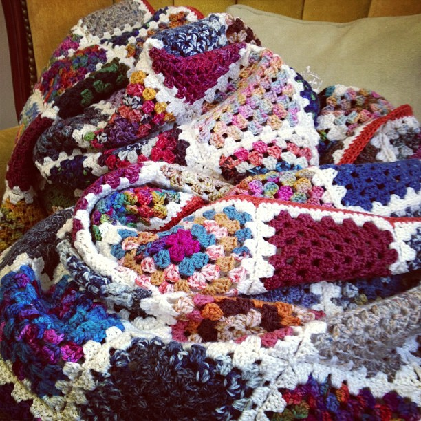 the epic granny square blanket