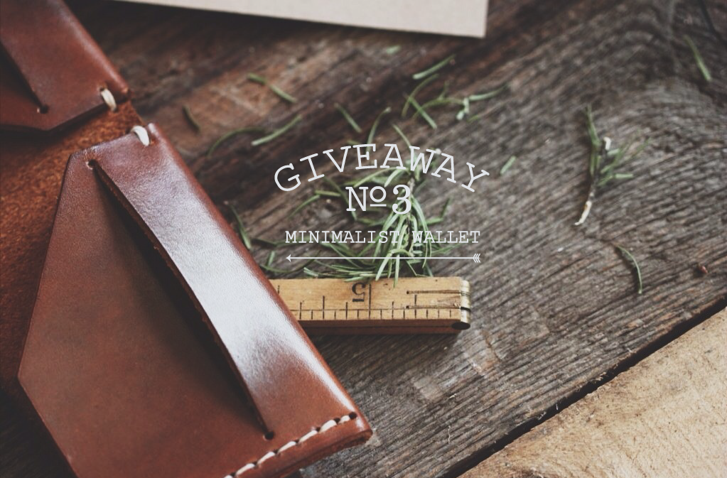 lylaandblu :      lylaandblu :      Giveaway ! |  L&B   x   S&B   We have done a few before and here is another! This time around the piece we are giving away is exceptional! We have recently teamed up with   Stock & Barrel Co  . to sell handcrafted leather goods! Some of which we have   in the shop    now ! We are giving one lucky winner a beautifully oiled and dyed leather   minimalist wallet   with a simple bi-fold and saddle stitching! Handcrafted in America and something any lad or lady would love to have in their wardrobe!   RULES FOR ENTRY :  You   must reblog   this post with all information attached (c'mon now don't we want to share this opportunity with everyone?) We will draw a random name (reblogger!) at the end of this month from the list of notes and ship it his/her way regardless of location! The more notes the better! If this post reaches  1,000  notes,   Lyla & Blu   will also give away an old film camera to a separate winner! If it reaches  5,000  notes we will give a $100 gift certificate to our shop,   1924.US  !Good luck and thank you!      One Week Left!       … we love pretty things …