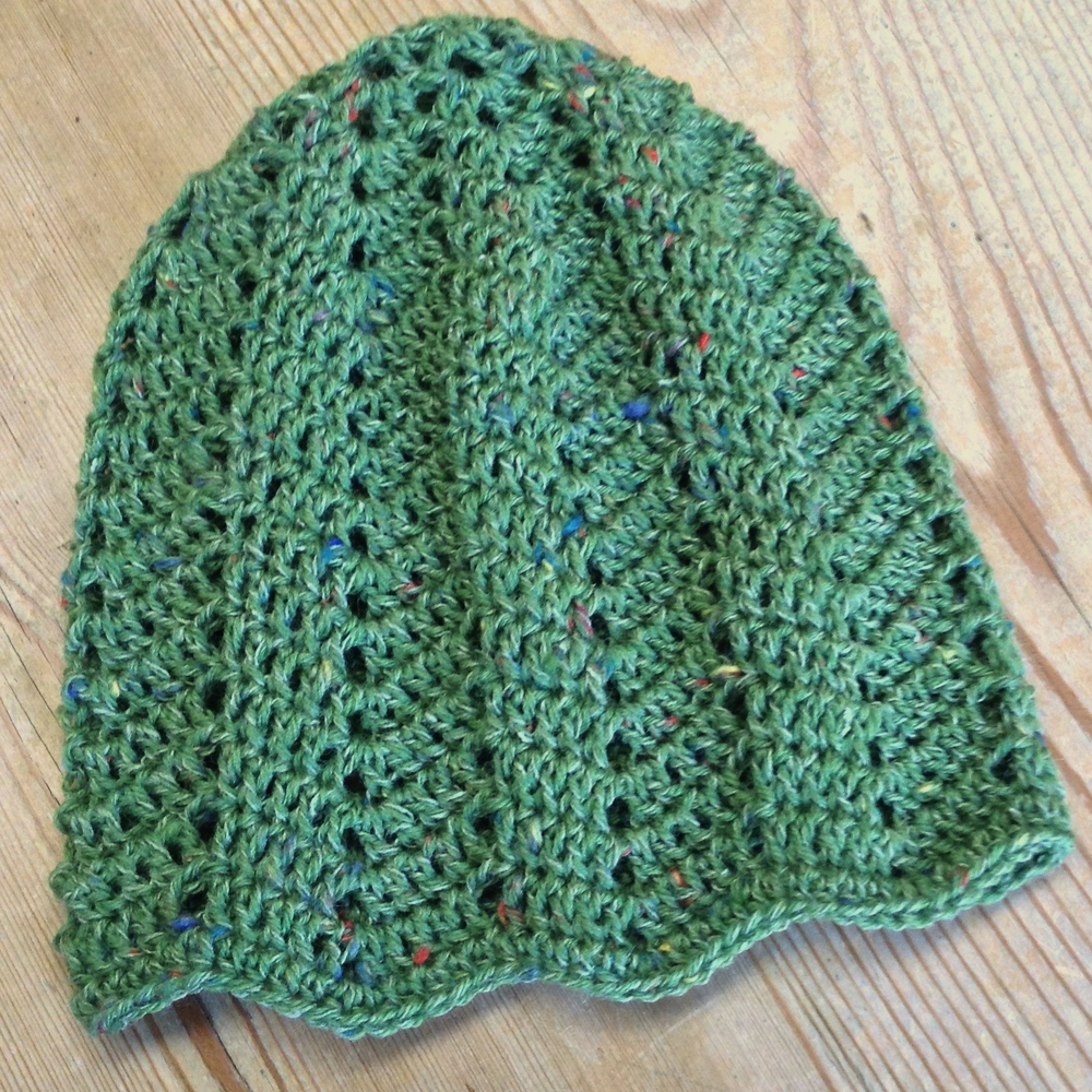 Green chevron baby hat for In The Loop ... a cotton sock yarn that made a bunch from each skein! YEAH!