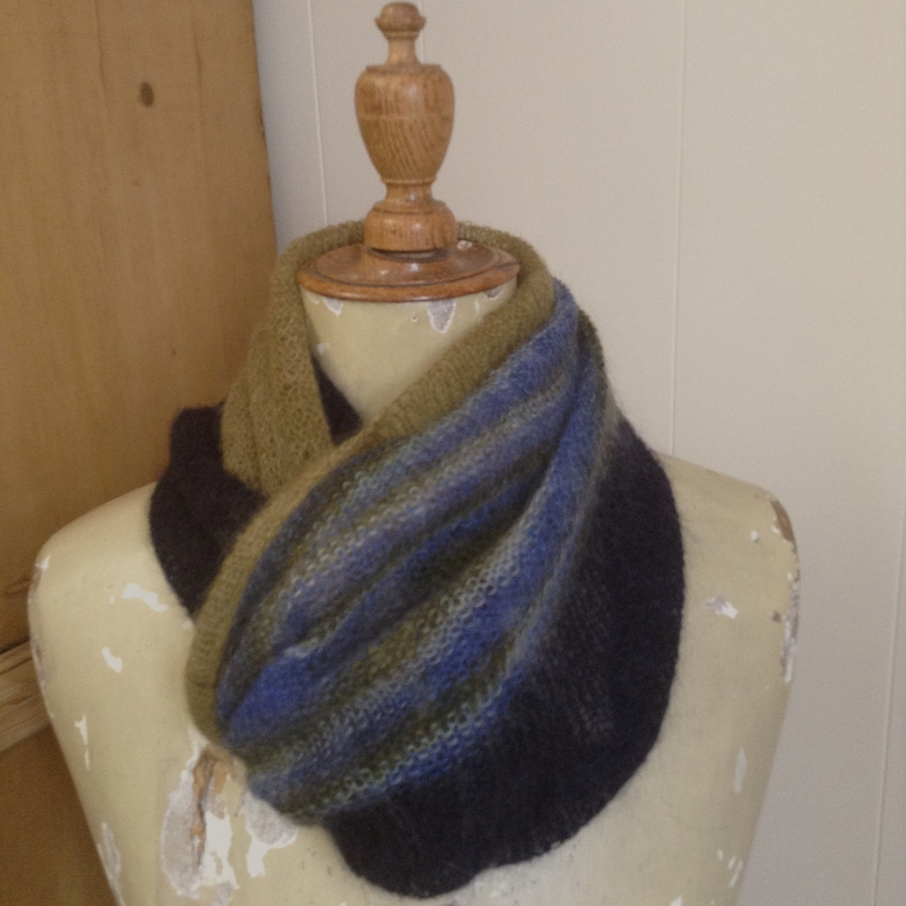 "A perfect and forever cowl ... I love it so. 240 sts ... 4.5 mm Addi natura 24"" circular needle ... 43 gr knitted up."