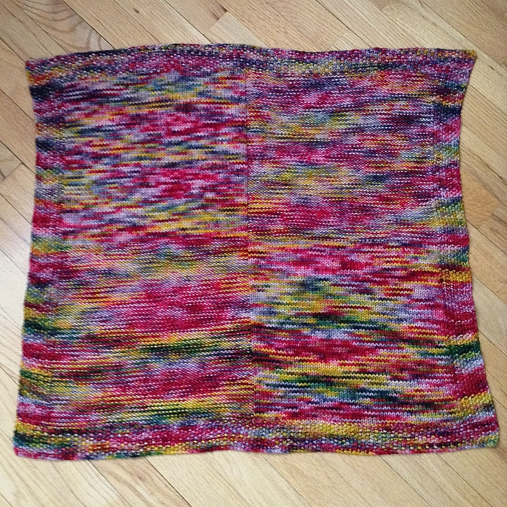 "Finished up at about 26"" square ... quadratisch, praktisch, gut ... square, practical, good ... just like a tablet of Ritter Sport Chocolate!"