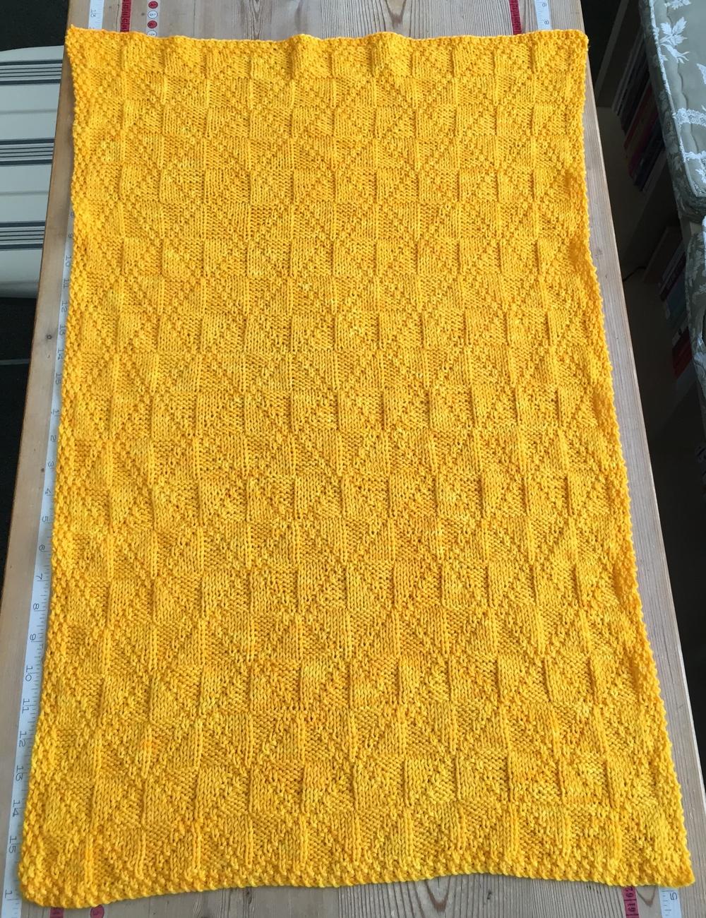 The STELLA pinwheel blanket version 3 ... Miss Babs YOWZA ... one skein!