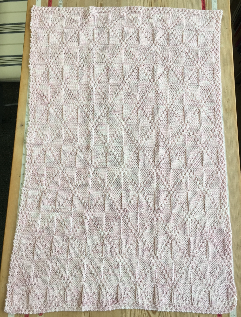 The STELLA pinwheel blanket in Miss Babs YOWZA ... one skein ... spun sugar deliciousness!