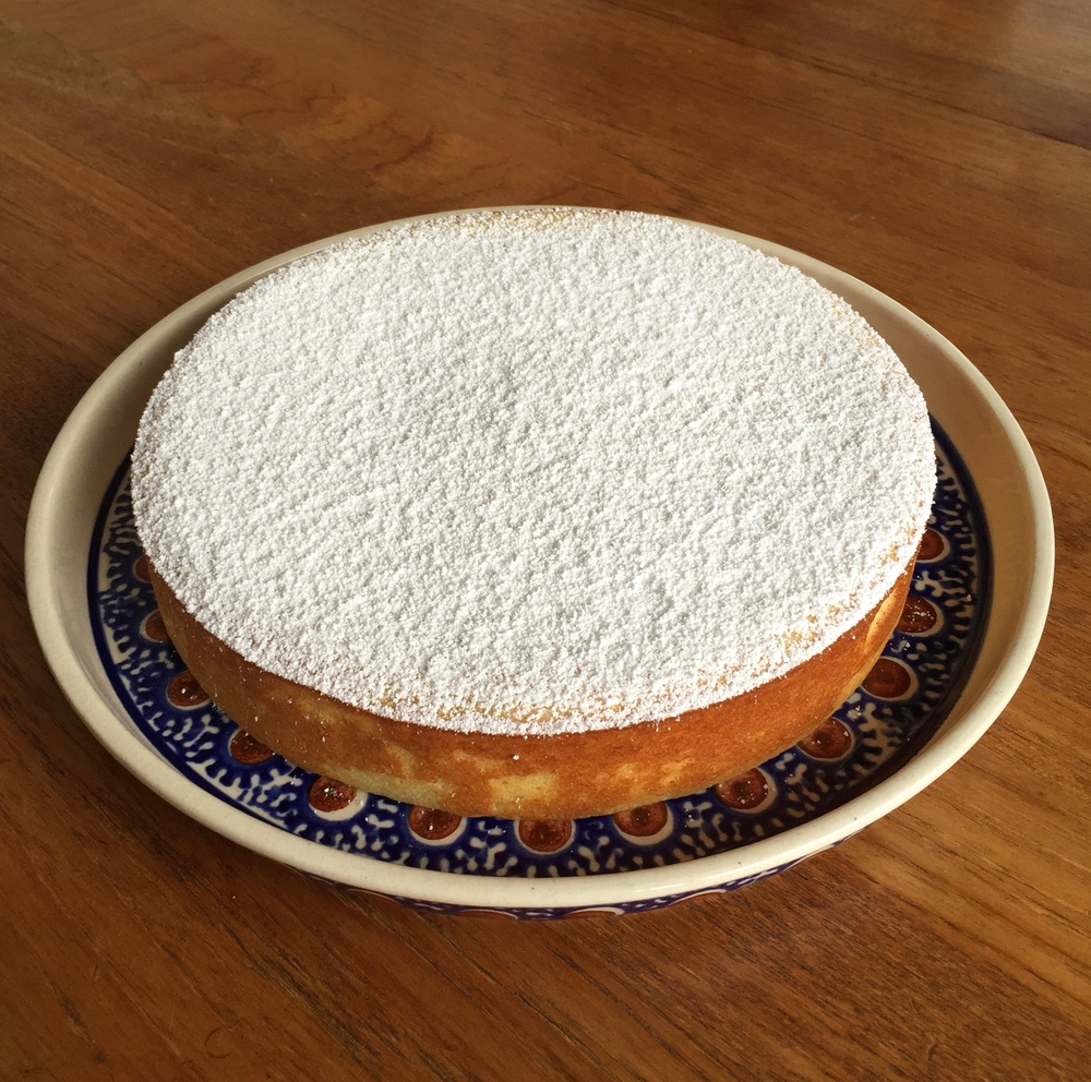 "Migliaccio lemon ricotta cake ...half the recipe and baked in an 8"" pan ... perfect + delicious!"