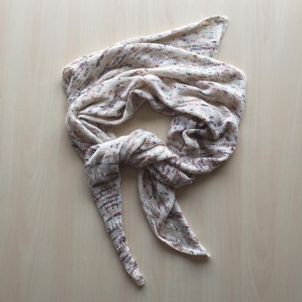 JETSTREAM shawl in madelinetosh PRAIRIE modern fair isle ... best color yet!