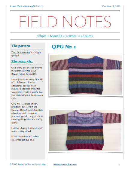 FIELD NOTES 11/2015