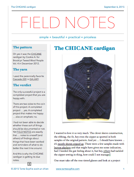 FIELD NOTES 8/2015