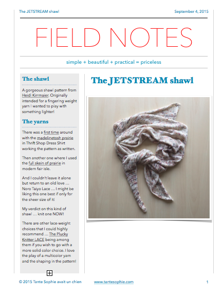 FIELD NOTES6/2015