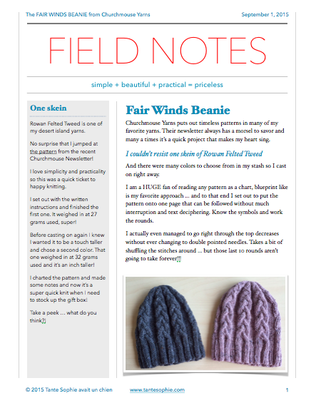 FIELD NOTES 3/2015