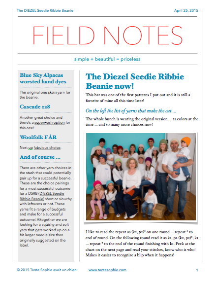 FIELD NOTES 2/2015