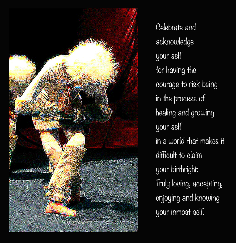 For more about CELEBRATING YOUR SELF:  http://forthelittleonesinside.com/1celebrating-our-selvese5   For the book:  http://www.amazon.com/Only-Fast-Your-Slowest-Feels/dp/0615717004/ref=sr_1_1?ie=UTF8&qid=1384961263&sr=8-1&keywords=robyn+posin